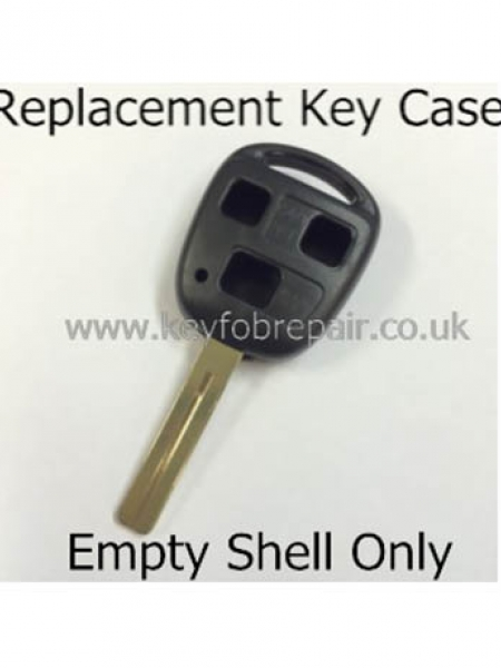 Toyota TOY48 3 Button Key Fob Case- Hilux Yaris Celica Rav4 Land Cruiser Etc